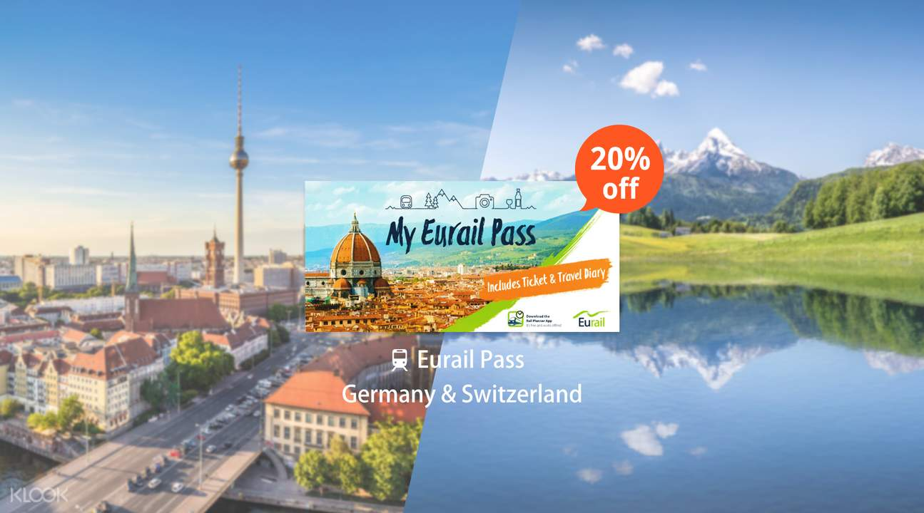 Eurail Pass for Germany & Switzerland (4, 5, 6, 8 or 10 Days)